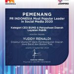 Dirut bank bjb Yuddy Renaldi Raih Penghargaan Most Popular Leader in Social Media 2020